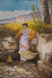 Przy studni- obraz wg. H.Siemiradzkiego