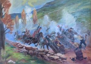 Szarża w wąwozie Samosierra - obraz wg.W.Kossaka