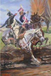 Starcie polsko - pruskie -obraz wg.W.Kossaka
