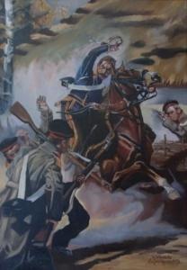 Z depesza - obraz wg.W.Kossaka