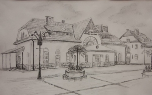 Rabka-Zdrój - Dworzec kolejowy.