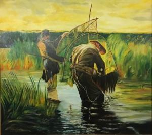 Rybacy brodzący wg.Leona Wyczółkowskiego