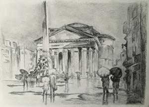 Rzym w deszczu