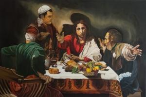 Wieczerza w Emaus wg.Caravaggia